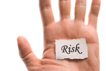 Risk word in hand