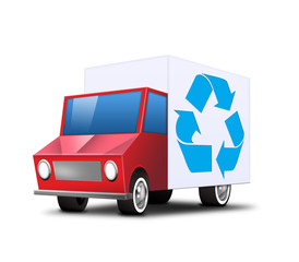 transporter lkw truck icon recycling