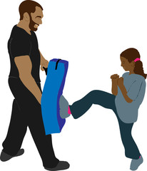 Ameyo si allena con il suo Papà