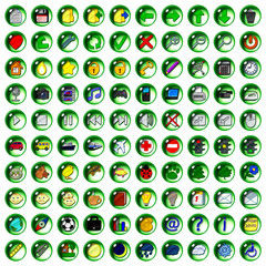 Icons drop green