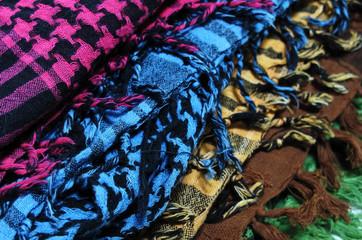foulards, inde,arabe,keffiehs,multicolores,couleurs