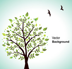 Spring scene/Vector background