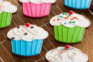 Wall Mural - Cupcake cookies