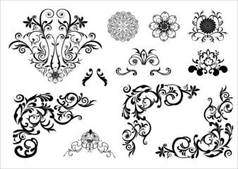 Floral vector tatoo