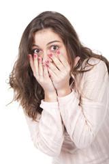 girl looking surprised