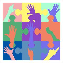 puzzle resign hands