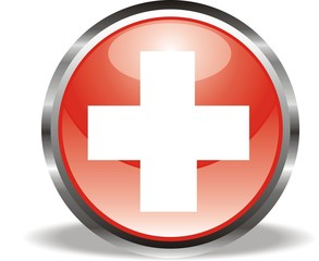 bouton croix rouge croix blanche