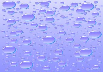 Drop on glass