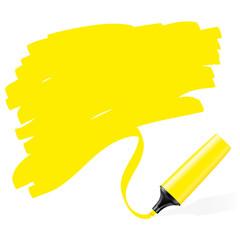 Marqueurs jaune fluo