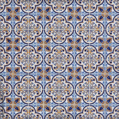Carrelage orange et bleu photo libre de droits sur la for Carrelage orange