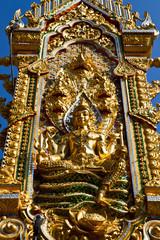 Golden Buddha under the open sky
