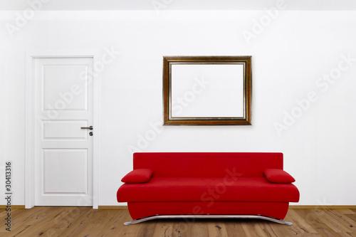 rote couch im wohnzimmer stockfotos und lizenzfreie bilder auf bild 30413316. Black Bedroom Furniture Sets. Home Design Ideas