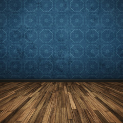 floor dark blue