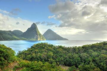 Foto auf Acrylglas Karibik Pitons - St. Lucia / Saint Lucia (Carribean)