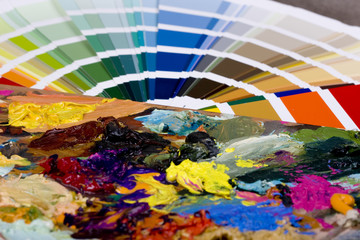 Color chart and artistic paint