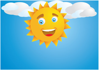 detail sun on clouds vector illustration eps8