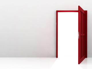 Abstract red door