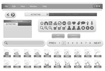 Forms template for desktop application. Vector illustration.