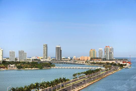 Aerial View of Miami Beach