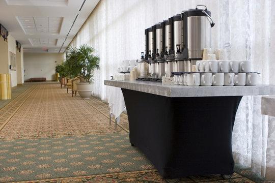 Hotel convention coffee break