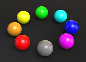 Farbige Kugeln