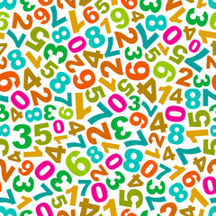 Seamless pattern with number mix