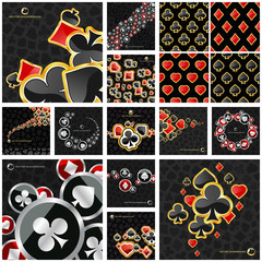 Abstract background with card suits. Great collection.