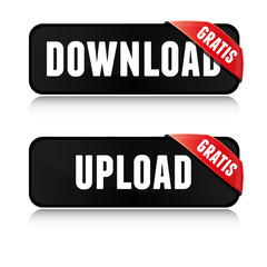Download Upload Button Set