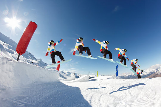 sequence saut snowboard