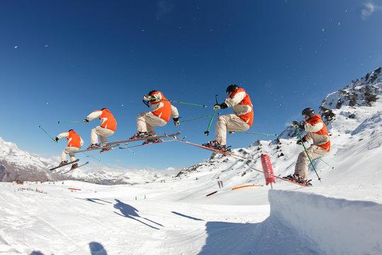photoshoot ski freestyle