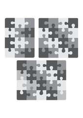 3X4, 4X4 and 5X4 puzzle patterns (removable pieces)