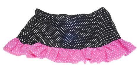 Pink and Black Polka Dot Skirt
