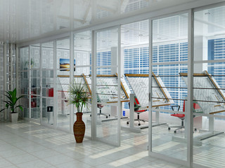 Interior of office