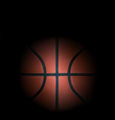 Basketball in dark background