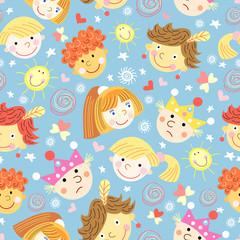 texture of fun portraits of children
