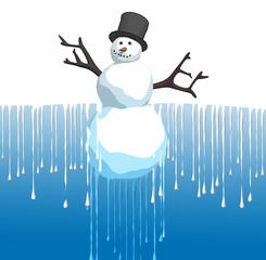 thawing snowman