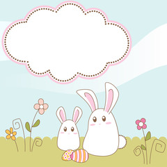 Easter bunny scrapbook card