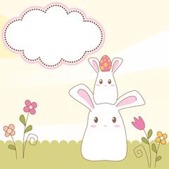 Easter bunny scrapbook card