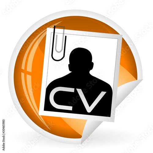 u0026quot ic u00f4ne cv u0026quot  fichier vectoriel libre de droits sur la banque d u0026 39 images fotolia com