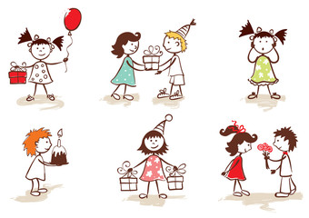 Collection - children celebrate birthday