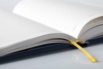 Closeup of notepad