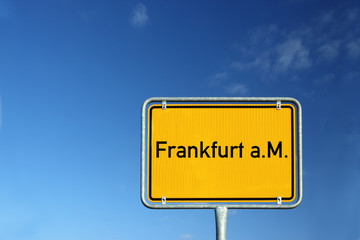 Schild City Frankfurt am Main