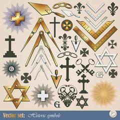 Big vector set: historical and religious symbols