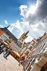 Hauptmarkt Trier mit Kirche St. Gangolf