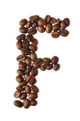 Kaffee Bohnen - Buchstaben F