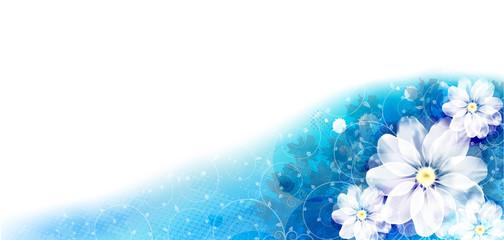 Floral-Blue-Card