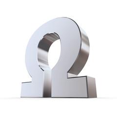 Shiny Greek Letter Omega