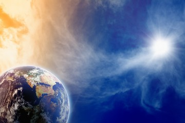 Printed roller blinds Imagination Planet in sky