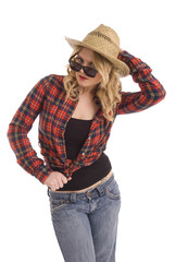 Cowgirl in red