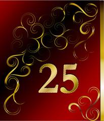 25. Hochzeitstag oder Jubiläum